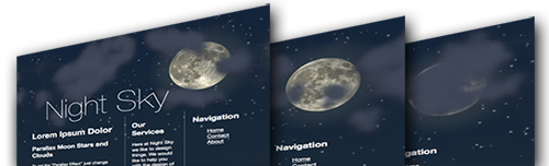 Night Sky Moon and Stars parallax example