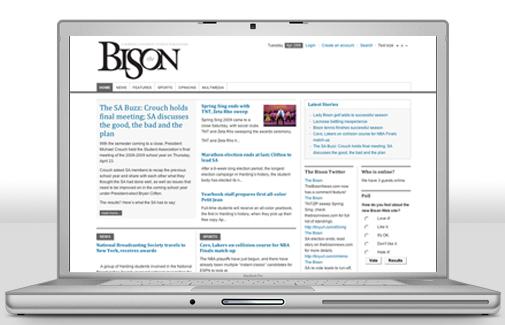 Screenshot of the Bison website on Laptop
